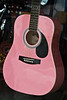 Pink Accoustical Guitar